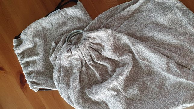Żakardowa chusta kółkowa (2,1 m) LITTLE FROG plus plecaczek