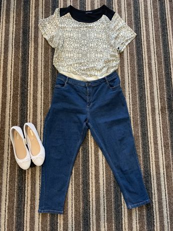 Plus size dzisny jeans Marks and Spencer 20 50