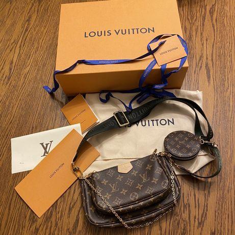 Torebka Louis Vuitton 100% oryginalna Multi pochette accessoires khaki