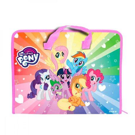 Портфель пластиковый на молнии My little pony
