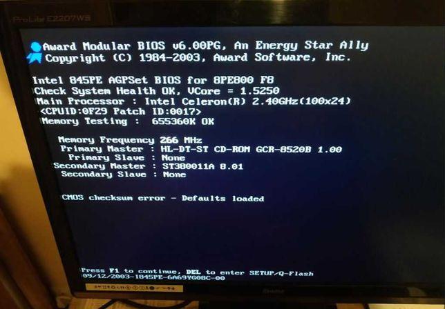 Komputer stacjonarny (Intel Celeron 2,4, GeForce 6200) możliwa wysyłka