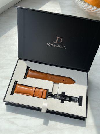 Элитный кожаный ремешок для apple watch Longvadon