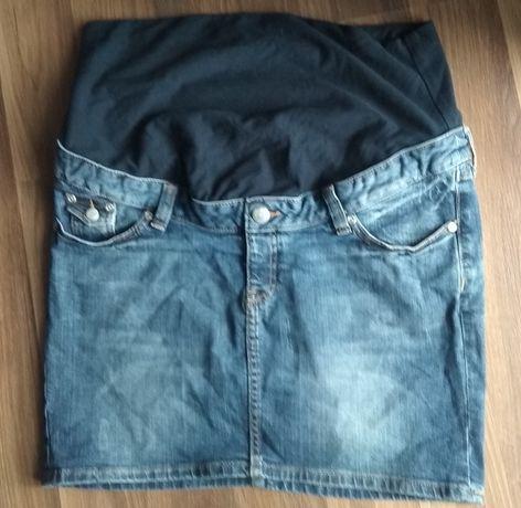 Spódniczka jeansowa ciążowa H&M