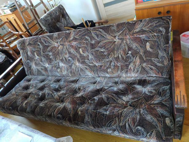 Oddam wersalkę szer. 204 cm + 2 fotele szer. 64 cm