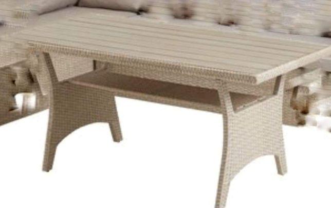 Stół ogrodowy technoratan
