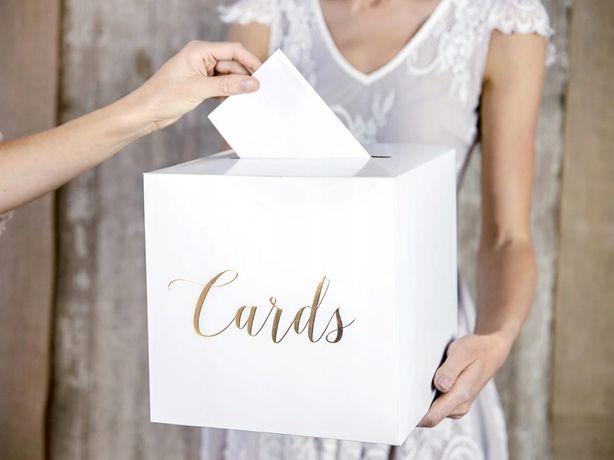 Pudełko na koperty życzenia Glamour złote Cards