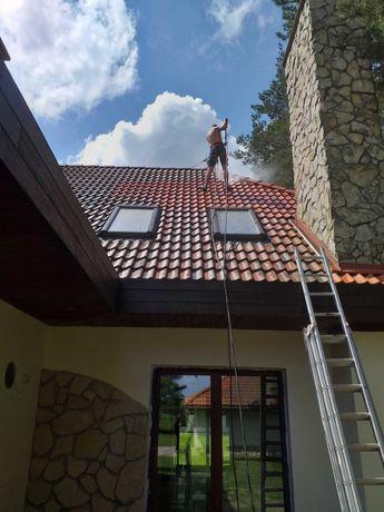 Mycie i malowanie dachow, elewacji, kostki brukowej, ogrodzen...