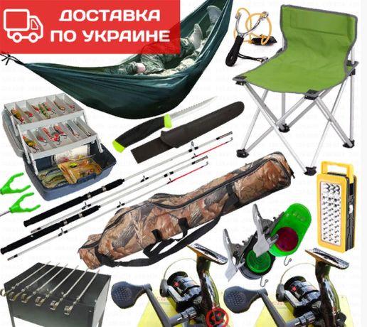 Спиннинг / Набор рыбака / Подарок / катушка / кресло / ящик / нож