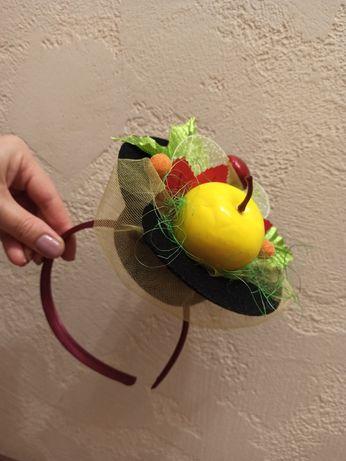 Обруч яблоко, шляпка, корзинка, украшение яблоко