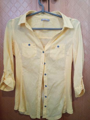 Рубашка женская ORSAY, Размер S, жёлтая