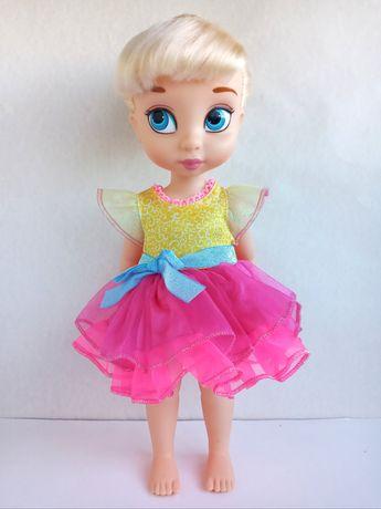Нарядное платье для кукол Дисней Аниматор лосины одежда розовое яркое
