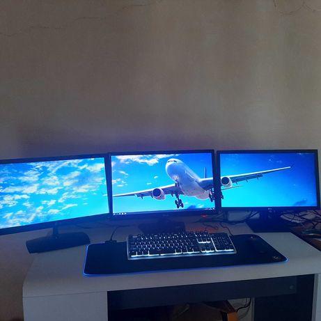 монитор  22 23 24дюйма 75 Гц 1 мс HDMI vga и dvi разьемы игровой