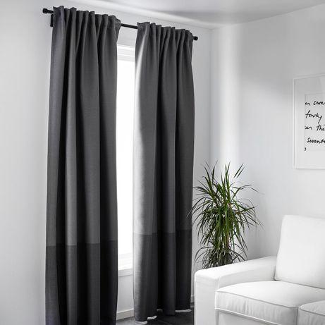 Cortinas MARJUN (IKEA) - cinzentas/prateadas