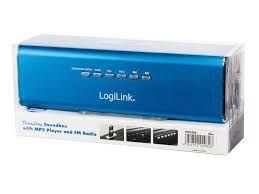 Logilink Discolady Soundbox z odtwarzaczem MP3 i niebieskim radiem FM
