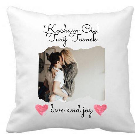 Poduszka na walentynki z twoim zdjęciem personalizowany prezent