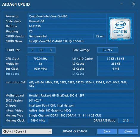 Процессор I5-4690 3.5-3.9Гц 1150