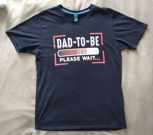 """Koszulka dla przyszłego taty """"Dad to be"""" rozm M jak nowa"""
