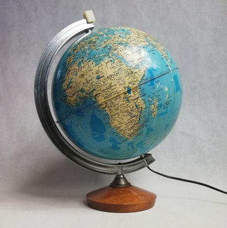 Podświetlana lampka globus, lata 70.