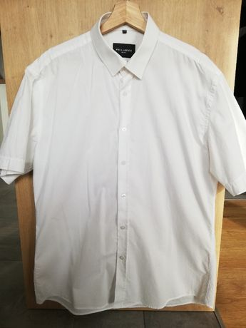 koszula wólczanka krótki rękaw biała