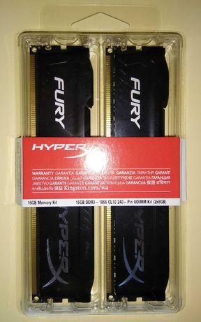 Kingston HyperX FURY Black DDR3/1866/16GB (2x8) гарантия до 2027года