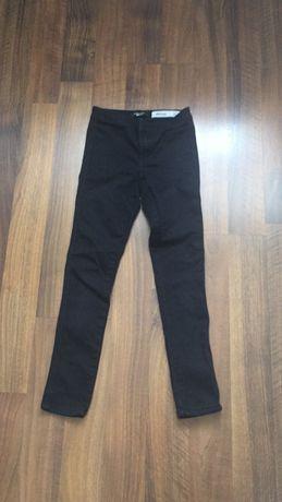 Jeansowe rurki wysoki stan czarne New Look rozm 140