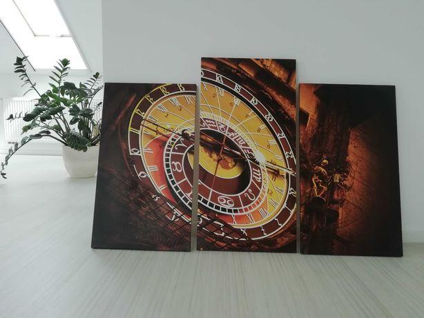 Obraz tryptyk, zegar ratuszowy w Pradze