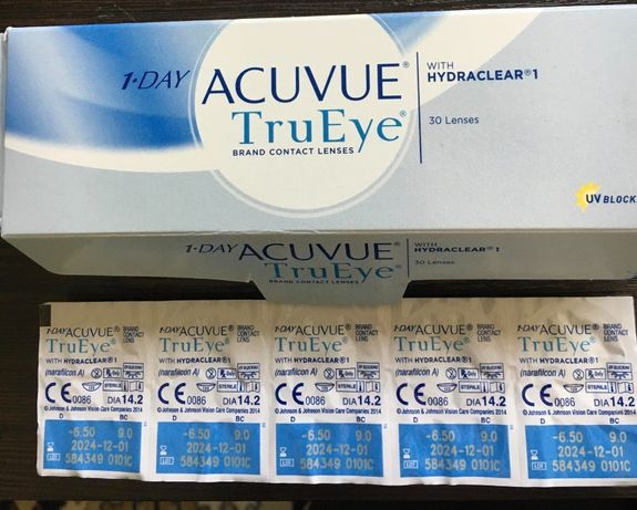Однодневные линзы Johnson&Johnson ACUVUE TruEye D -6.50 DIA 14.2 C 9