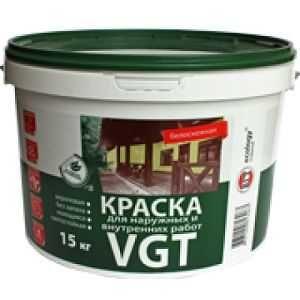 ВГТ ВД-АК-1180 БЕЛОСНЕЖНАЯ краска для наружных и внутренних работ 7кг
