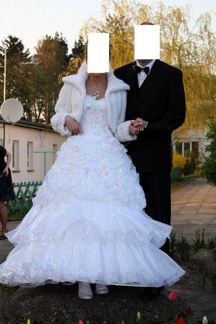 Suknia ślubna koło plus bolerko rozmiar 36, 38 i 40