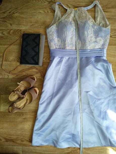 Лавандовое нарядное платье с кружевом для фотосессии или на праздник