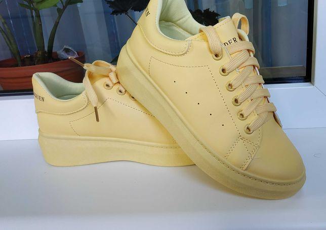 Кроссовки кеды женские жёлтые