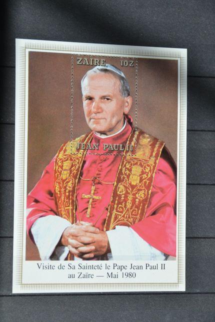 Znaczki. Zair. Papież Jan Paweł II **