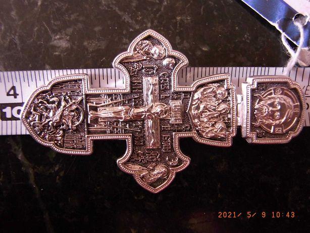 NOWY ! Duzy piekny srebrny / 925/ krzyzyk , wisiorek ! T O P !