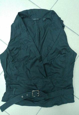 Bluzka czarna pasek Mango XL 42