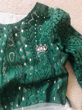 Sukienka butelkowa zieleń 134/140