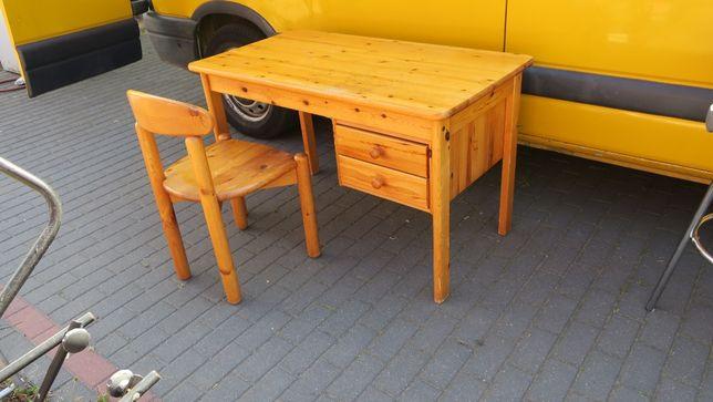 Biurko drewniane krzesło