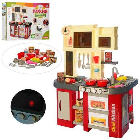 Детская кухня Высота 84 см вода плита посуда продукты звук свет 32 пре