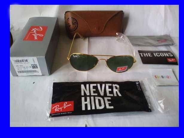 Ray ban aviador aviator classico dourado verde rayban oculos sol