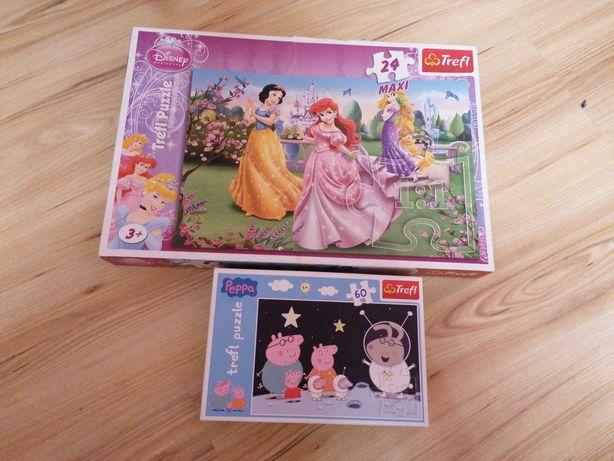 Zestaw puzzli dla dziewczynki Peppa i Księżniczki