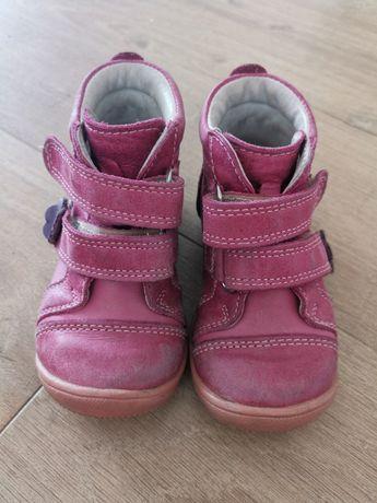 Buty skórzane dla dziewczynki róż. 21 ANIBUT