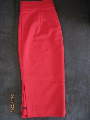 Czerwona wąska spódnica - ZARA