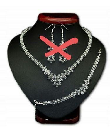 Biżuteria ślubna bransoletka, naszyjnik