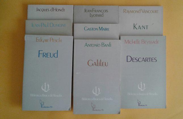 Livros: Freud, Hegel, Galileu, Kant, A fenomonologia, etc