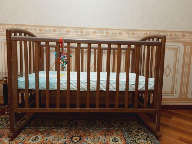 Итальянский манеж кроватка с матрасом. Срочно!