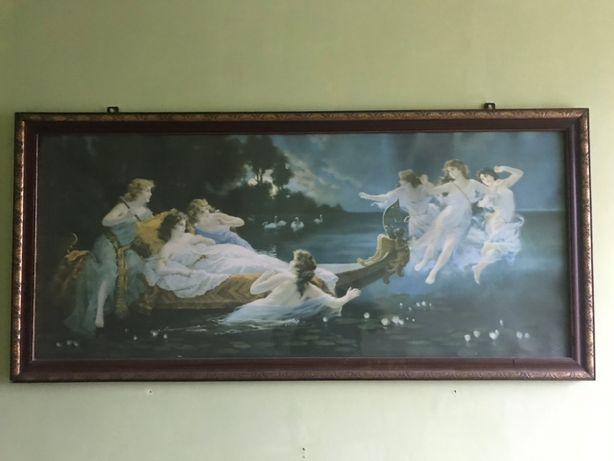 """Stary Obraz z ramą H.Clemens """"Noc w wenecji"""""""