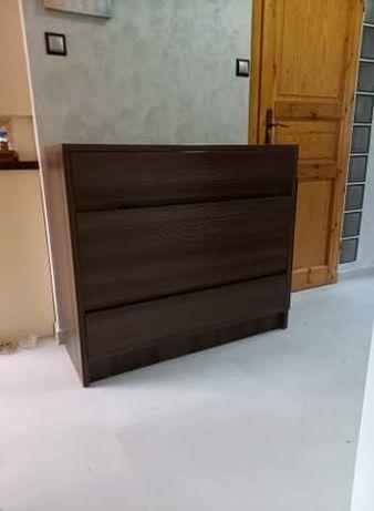 Komoda ciemny braz 4 szuflady