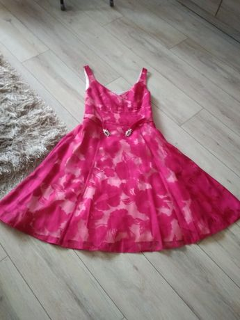 Sukienka rozkloszowana-idealna-roz.S