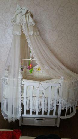 Кроватка Веселка Каролина с ящиком