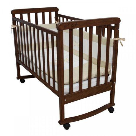 Детская кроватка ВЕРЕС Соня ЛД12, цвет орех, резьба «лапки» с МАТРАСОМ