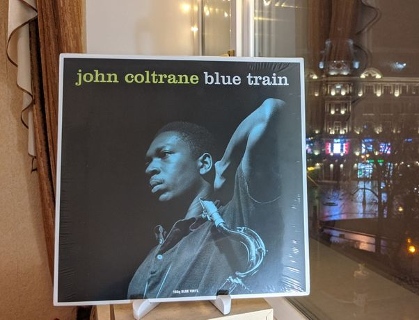 Пластинка джазз John Coltrane JAZZ РЕДКАЯ синий винил !